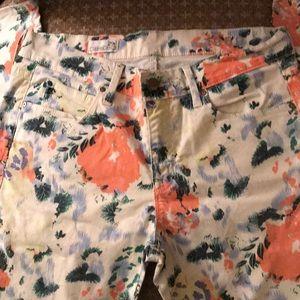 Fantastic Gap Floral Jeans!